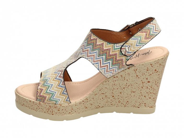Beżowe sandały damskie, buty WISHOT DS986 r37