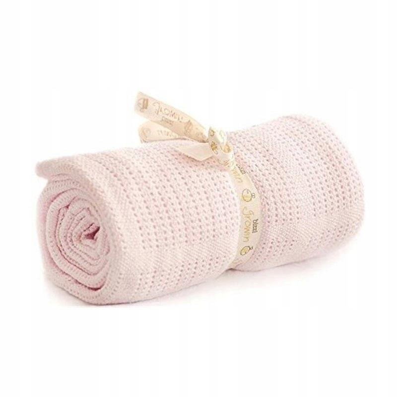 Bizzi Growin Pram Cellular Blanket Pink kocyk do g
