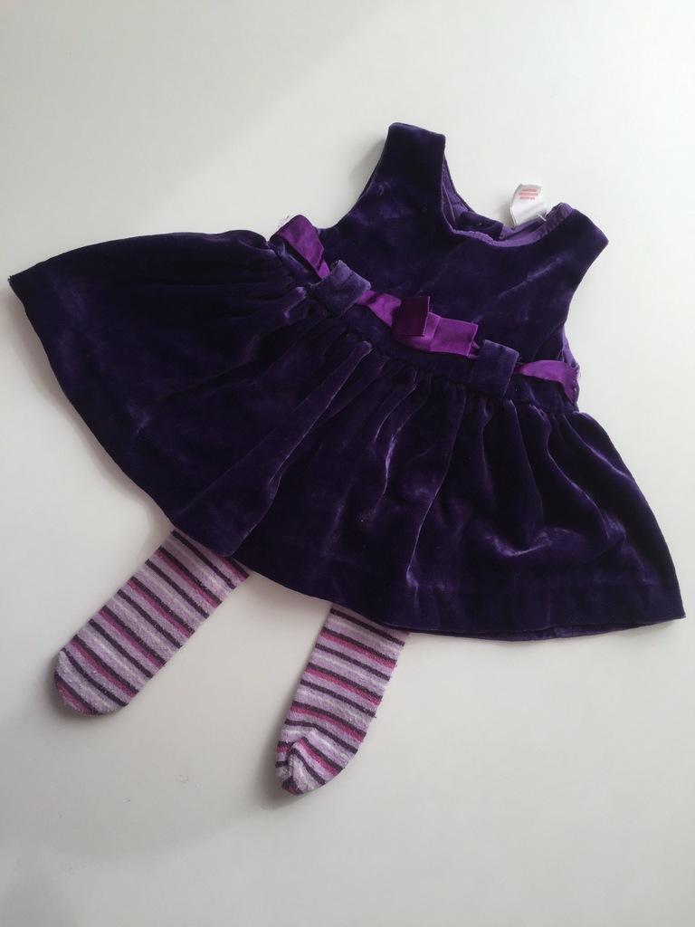 4. ZESTAW sukienka dziewczynka NEWBORN 2szt