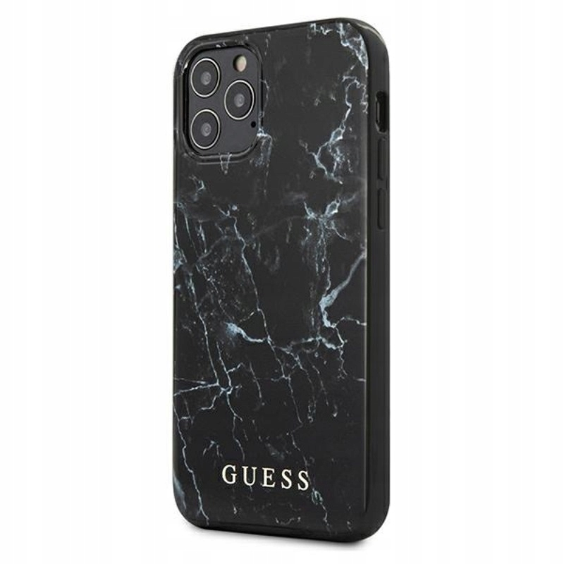 Guess Marble - Etui iPhone 12 Pro Max (czarny)