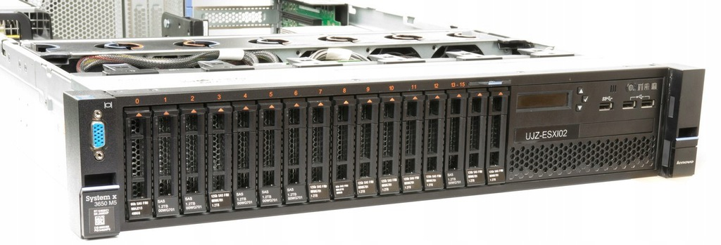 Serwer IBM X3650 M5 E5-2697v3 14/28 256GB +szyny