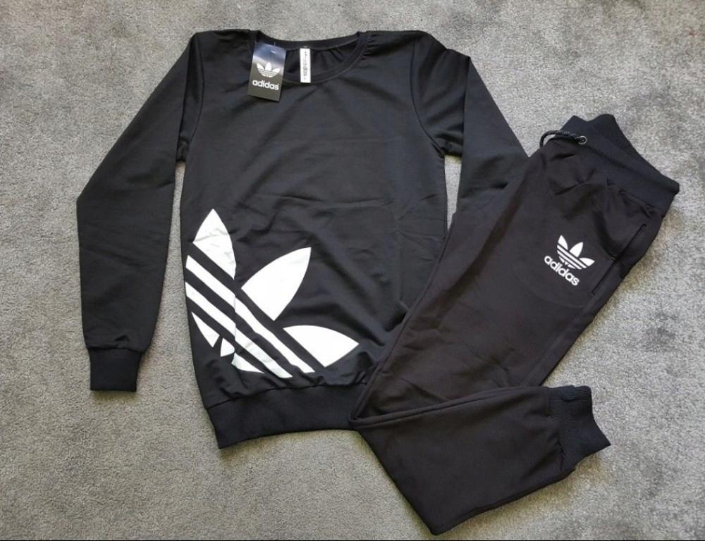 Dres logo adidas czarny biały znaczek M