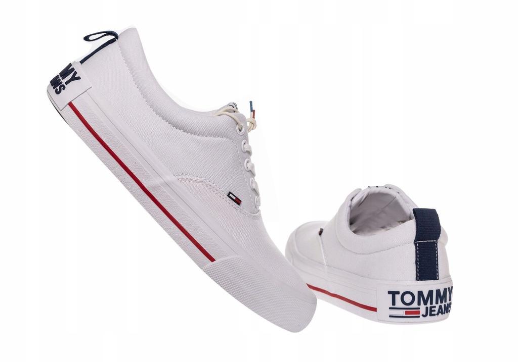 TOMMY HILFIGER BUTY MĘSKIE TRAMPKI LOW WHITE R:46
