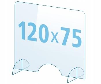OSŁONA z pleksi ochronna PA szyba 4mm plexi 120x75