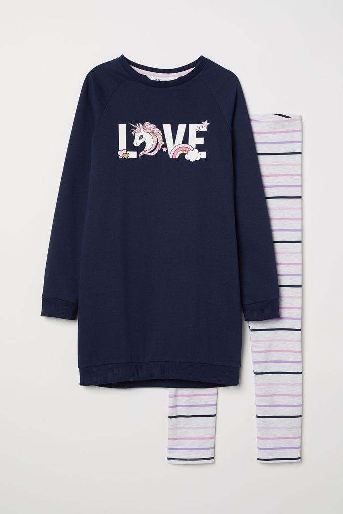 H&M Bluza i legginsy rozm.98/104cm,2-4L