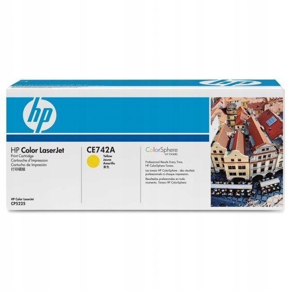 HP oryginalny toner CE742A, yellow, 7300s, HP 307A