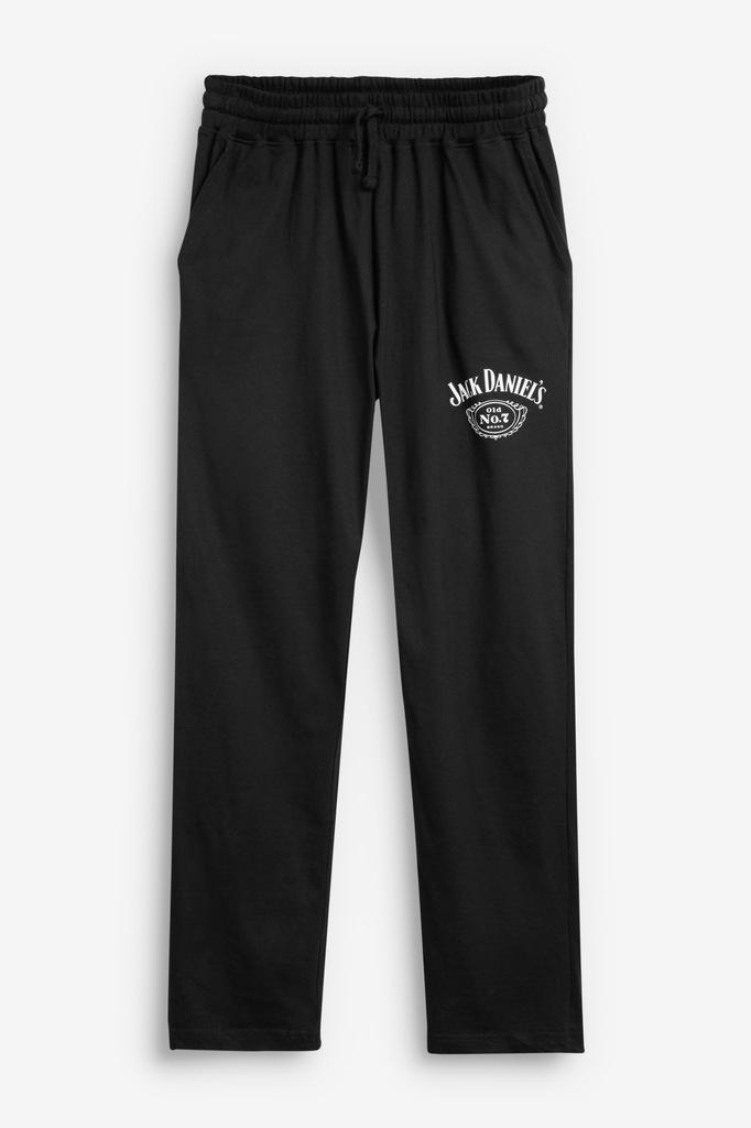 NEXT-czarne męskie spodnie piżama Jack Daniel's- M