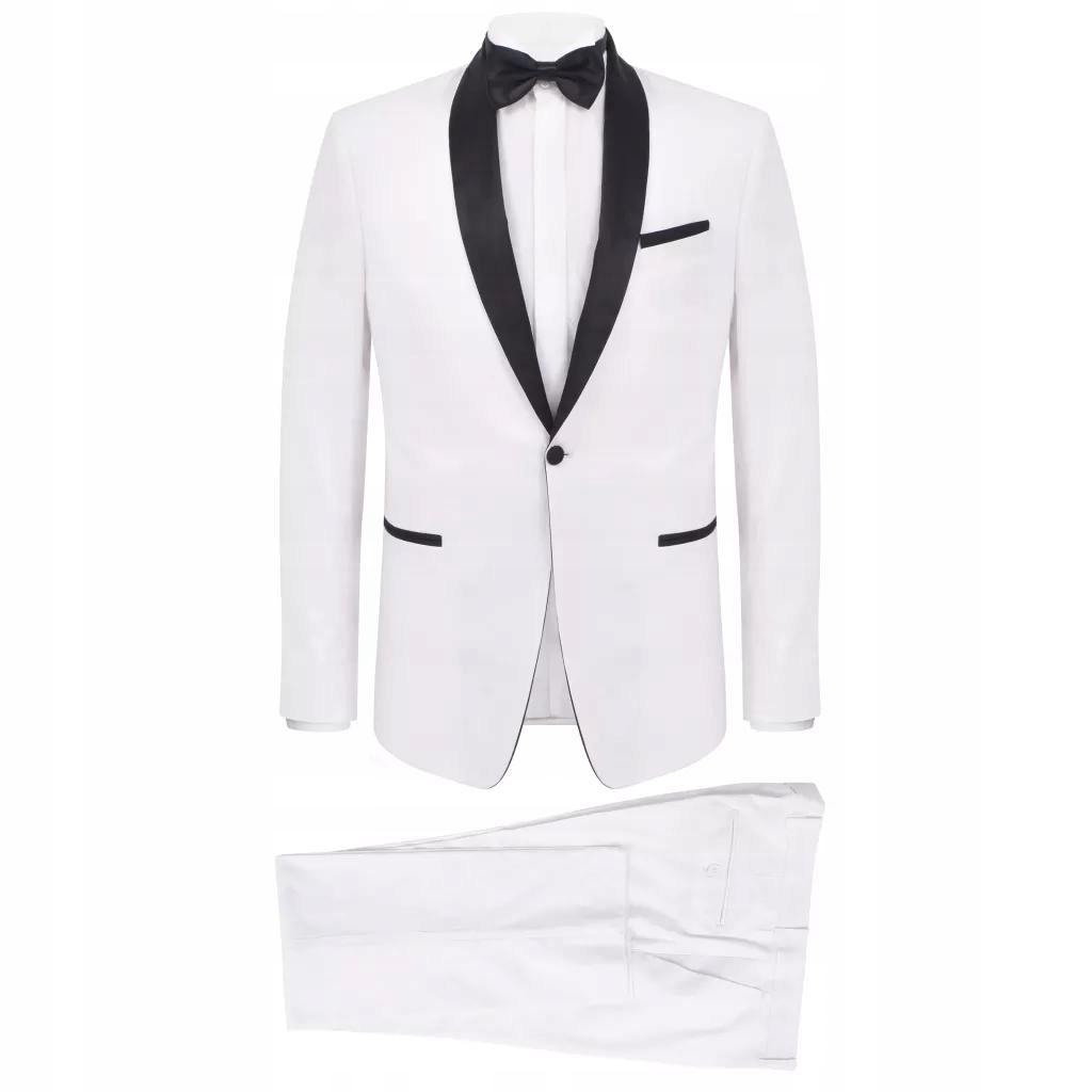 Męski smoking 2-częściowy rozmiar 48 biały