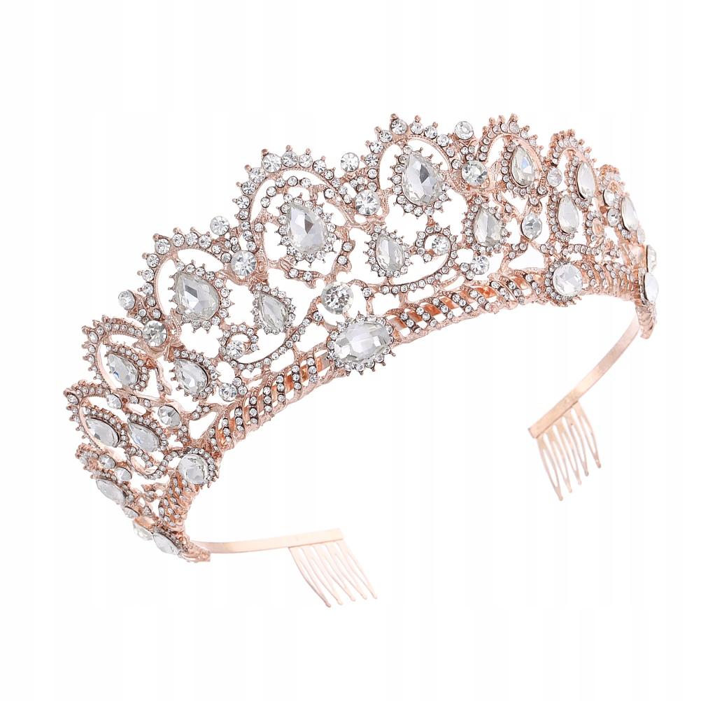 Piękna korona panny młode młode ślubne nakryte nak