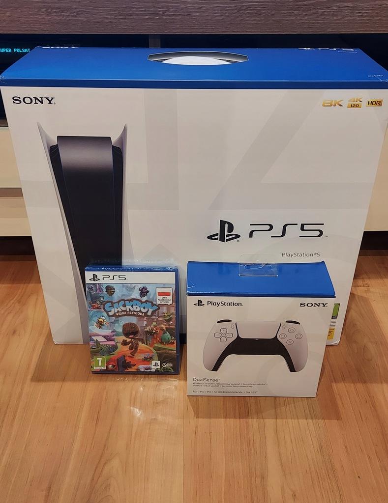 Konsola Nówka Sony PlayStation 5 / 2 pady/ sackboy