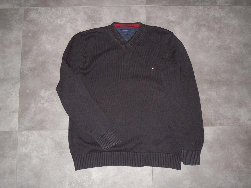 TOMMY HILFIGER czarny sweter r.L BDB