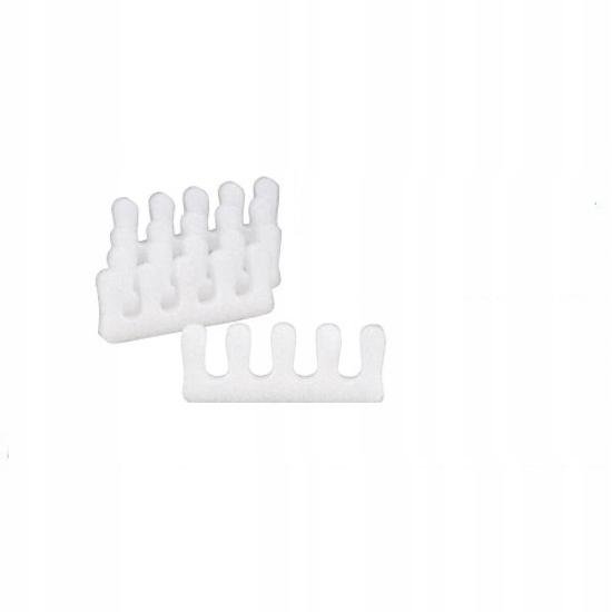 Separatory do pedicure biała pianka 10 sztuk