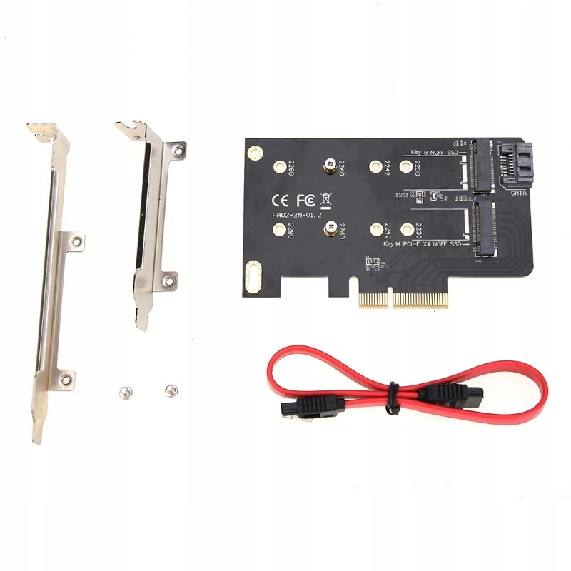 Adapter PCI-e x4 SSD M.2 key B M SATA