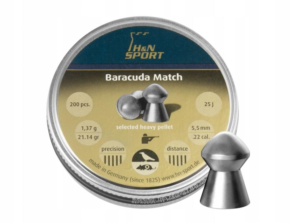 Śrut diabolo H&N Baracuda Match 5,53 mm 200 sz