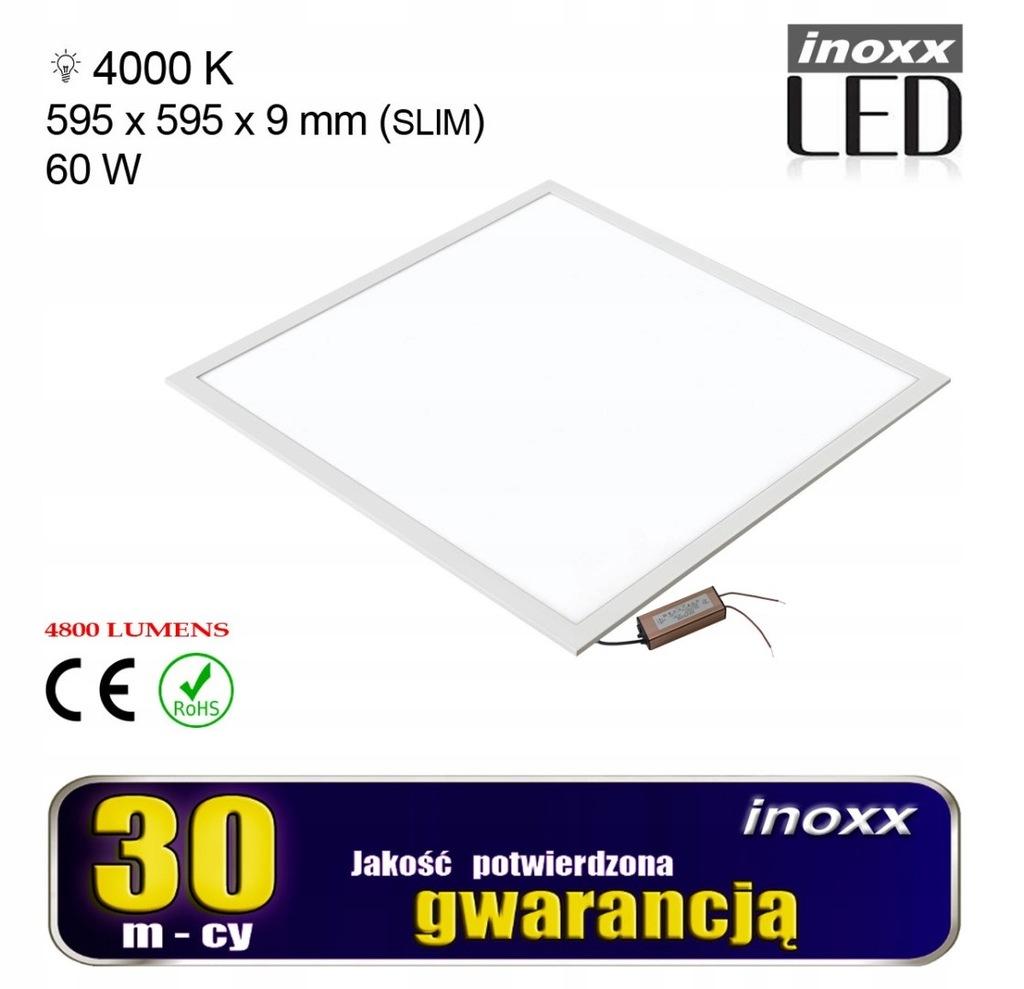 Panel led 60x60 60w lampa sufitowa kaseton 4000k n
