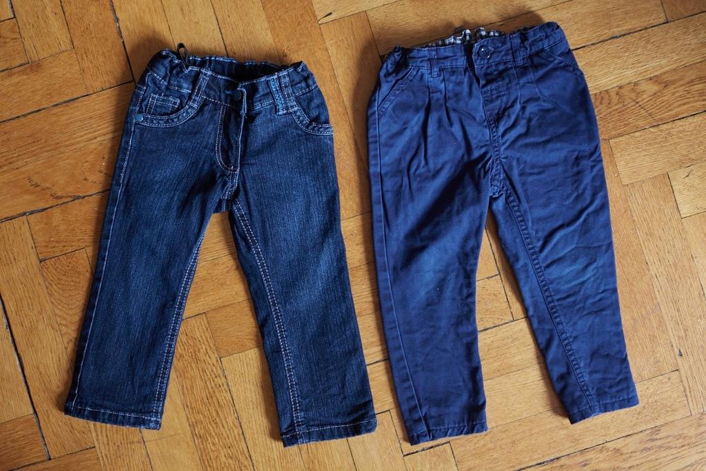 2x spodnie jeans C&A 86