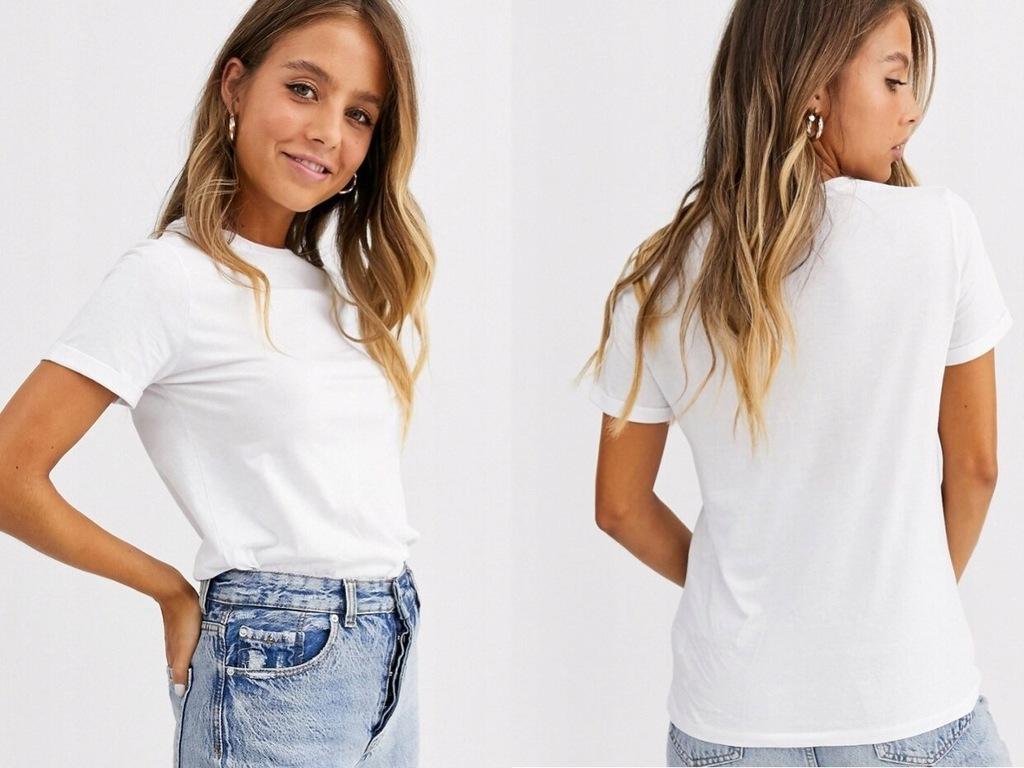 New Look biała koszulka T-shirt damski 44/XXL