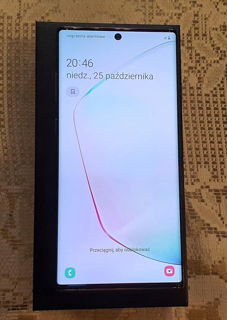 SAMSUNG GALAXY NOTE 10+ 512GB SILVER KOMPLET GW!!