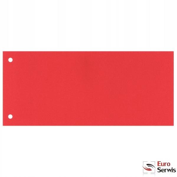 Przekładki kartonowe 1/3 A4 czerwone 100 sztuk 209