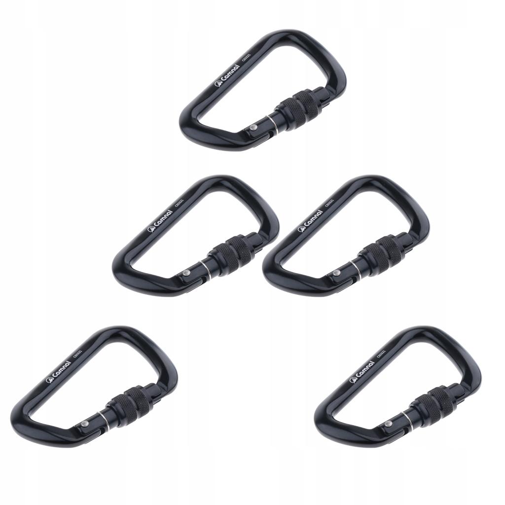 5 sztuk wspinaczka karabinek - Czarny