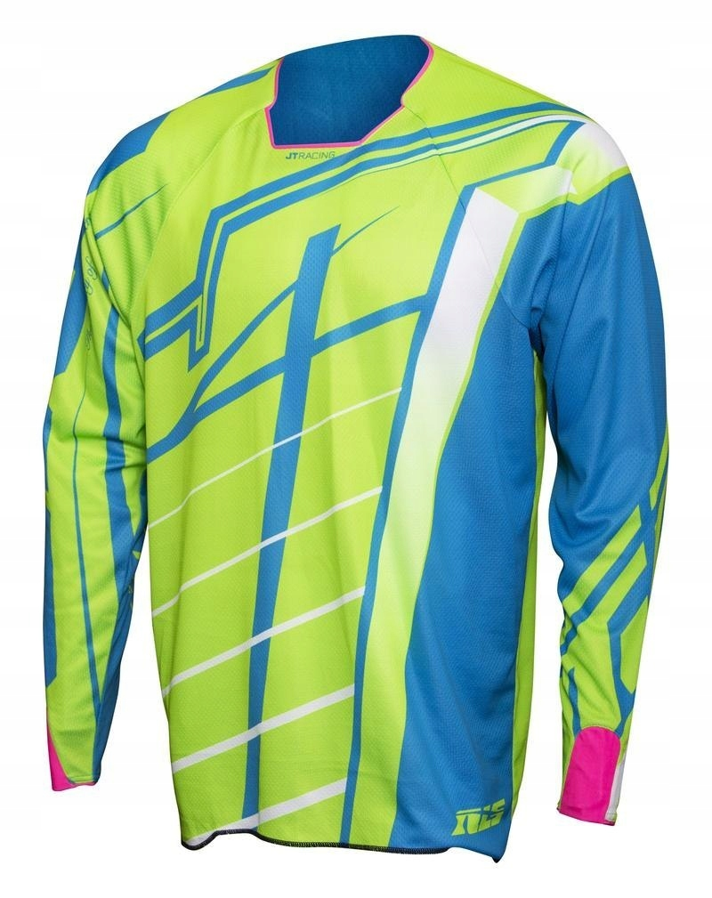 JT RACING KOSZULKA HYPER BREAKER BLUE/GREEN L