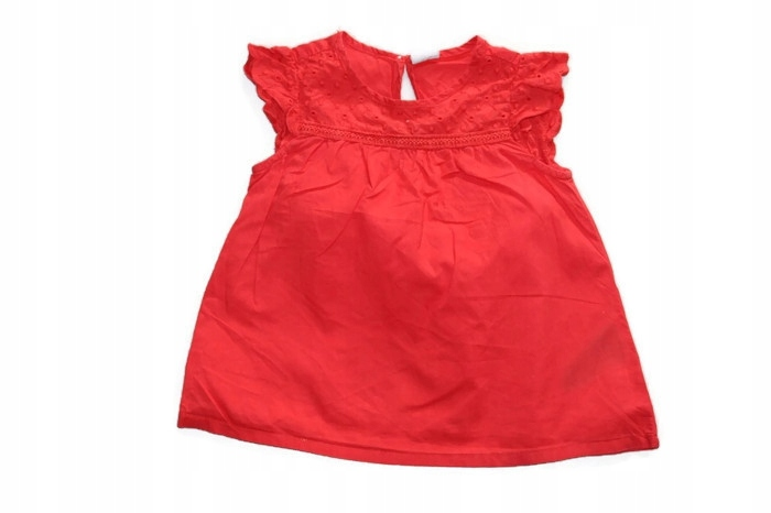 z21*H&M* Czerwona bluzka tunika z haftem 86