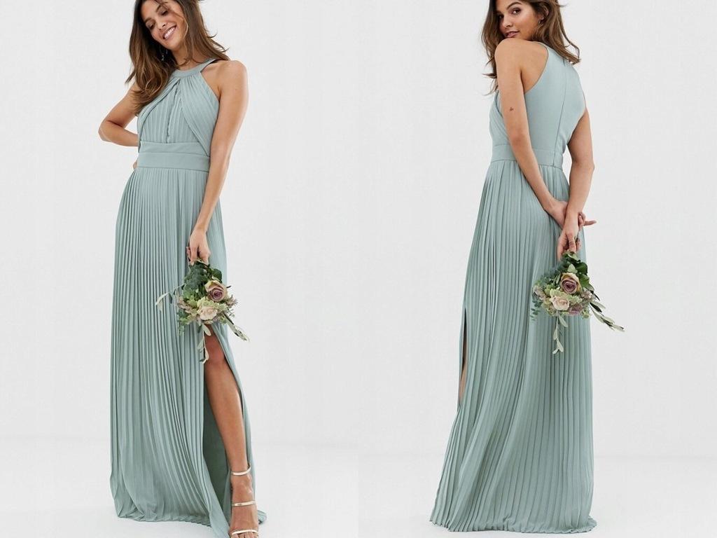 TFNC - Długa Plisowana Sukienka S/36