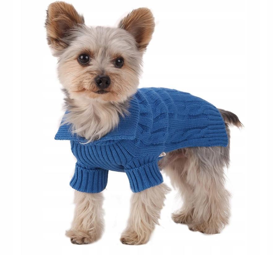 Sweter Dla Psa Niebieski Rozm M L Sredni Pies 9640149099 Oficjalne Archiwum Allegro