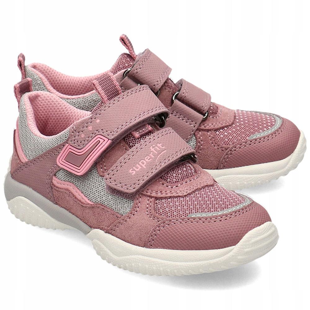 Superfit Wrzosowe Sneakersy Dziecięce Rzepy R.31