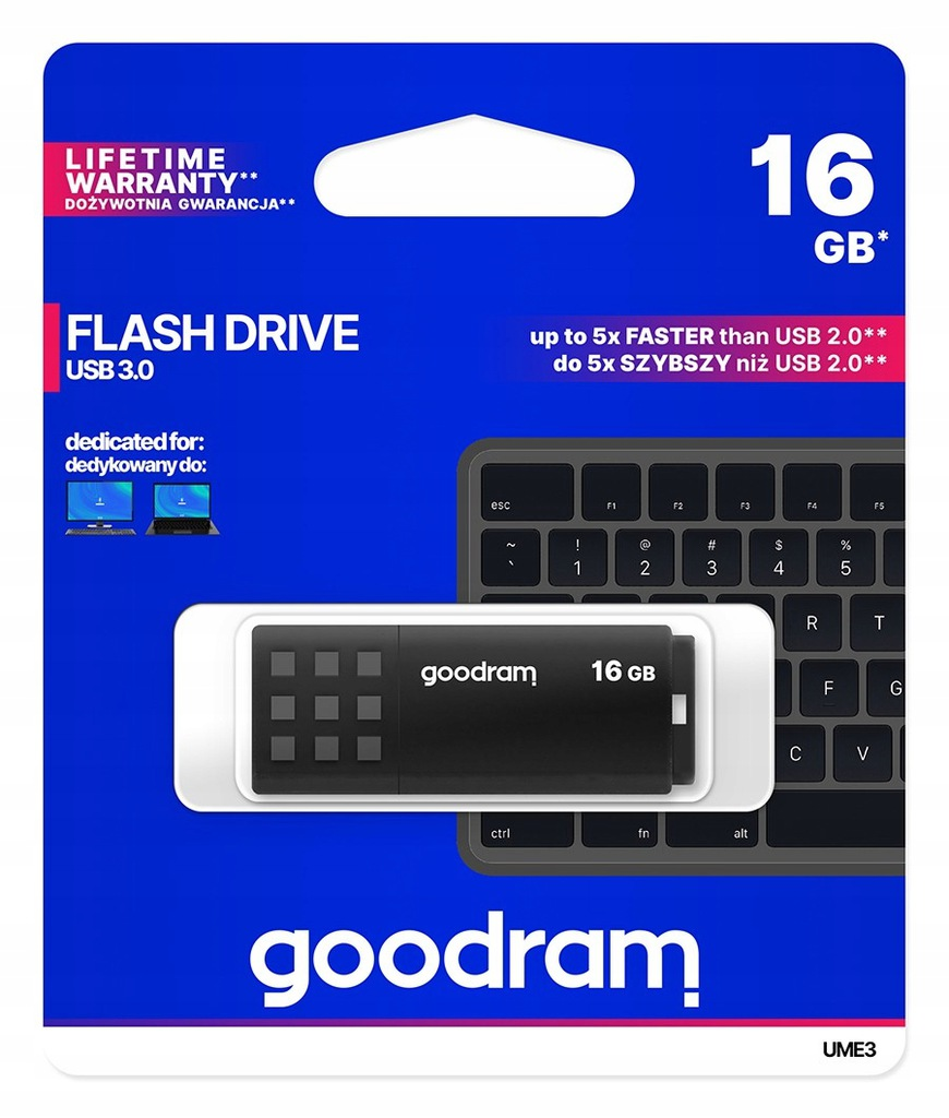 GOODRAM Pendrive UME3 16GB USB 3.0 Czarny