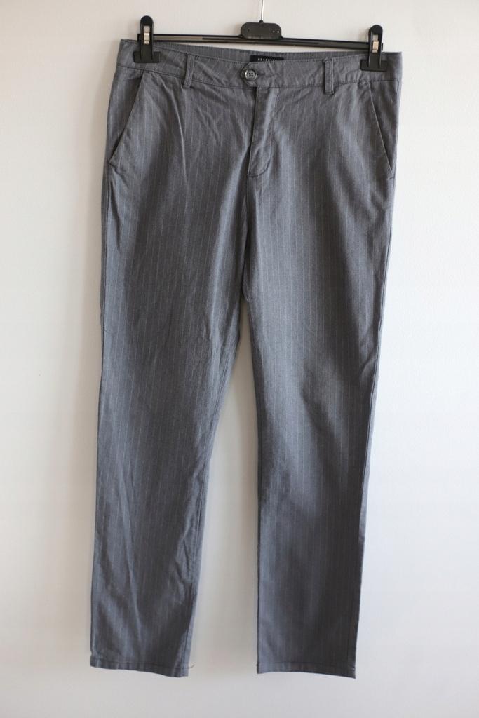 Reserved premium L spodnie paskiwysoki stan