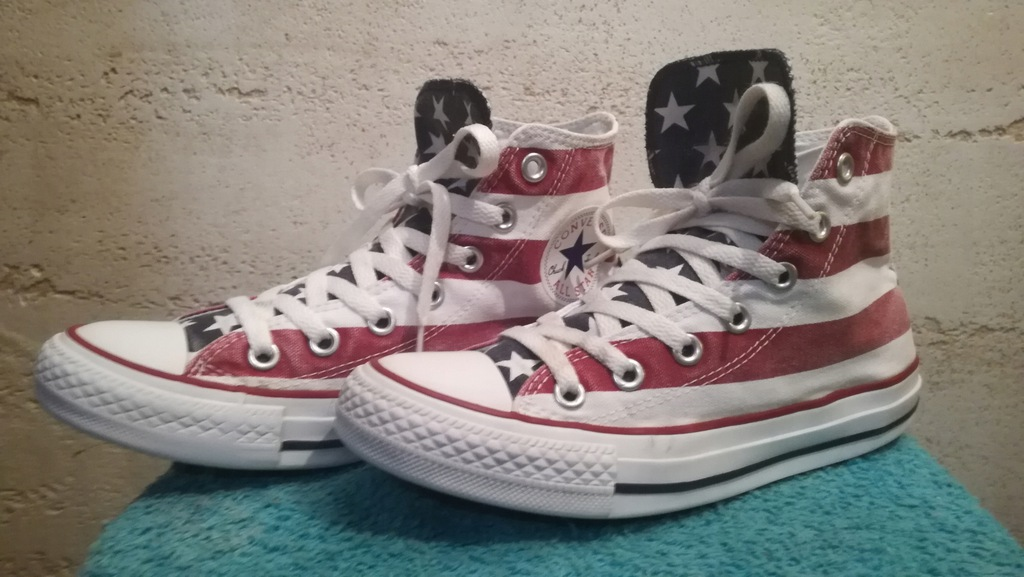 TRAMPKI CONVERSE ALL STAR FLAGA USA STAN B.DOBRY