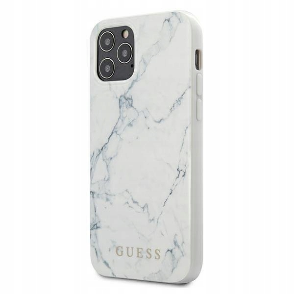Guess do iPhone 12 5,4 white hardcase Marble