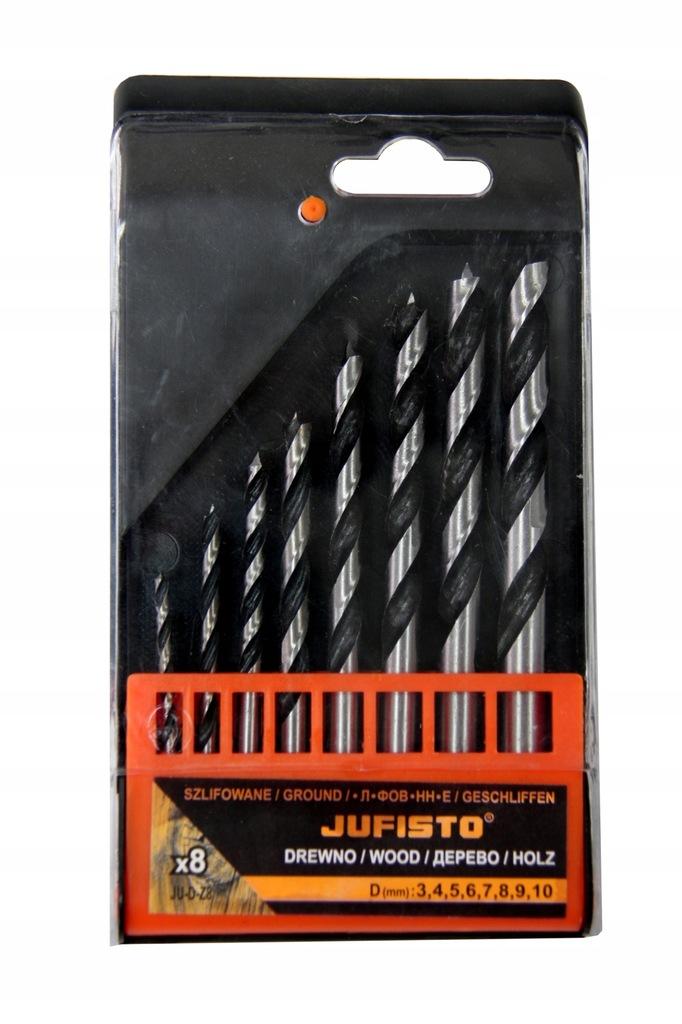 JUFISTO WIERTŁA DO DREWNA SZLIFOWANE 3,0-10,0mm 8s