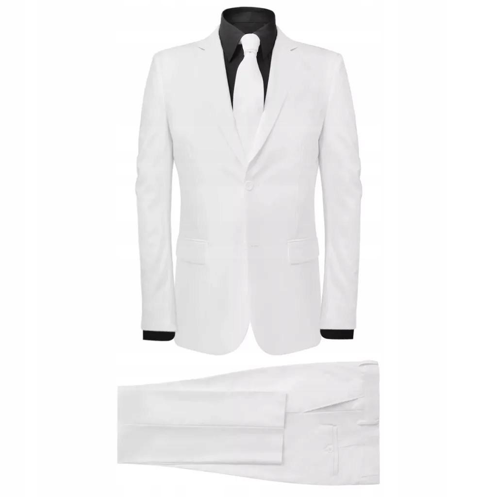 2-częściowy garnitur męski biały rozmiar 48