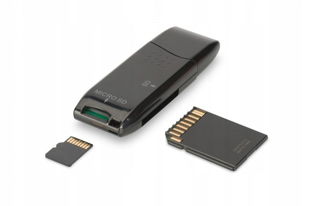 Czytnik kart 2-portowy USB 2.0 HighSpeed SD/Micro