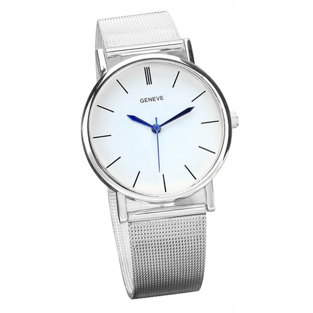 Zegarek ZG300 Geneve biały/srebrny