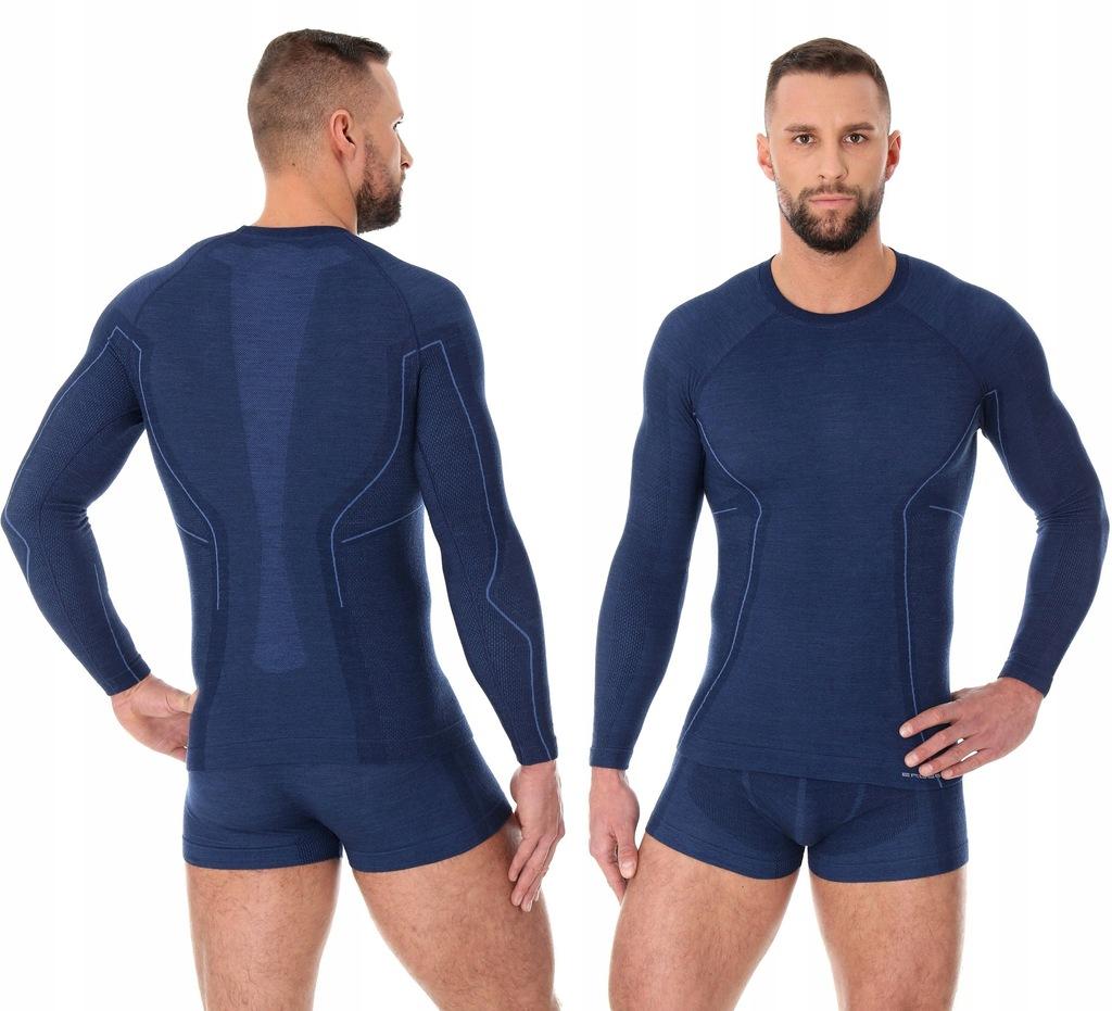 XL-BEZSZWOWA koszulka BRUBECK Active Wool Men Gran