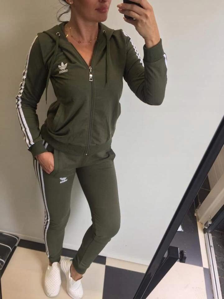 Damski bawełniany adidas kaptur Dres SM