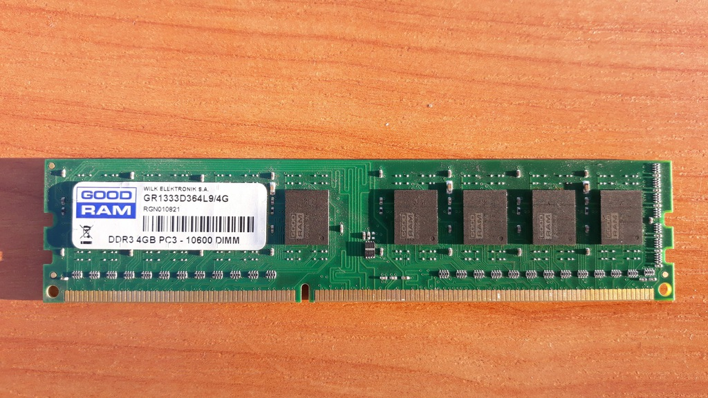 Pamięć Goodram 4GB DDR3 1333MHz GR1333D364L9/4G