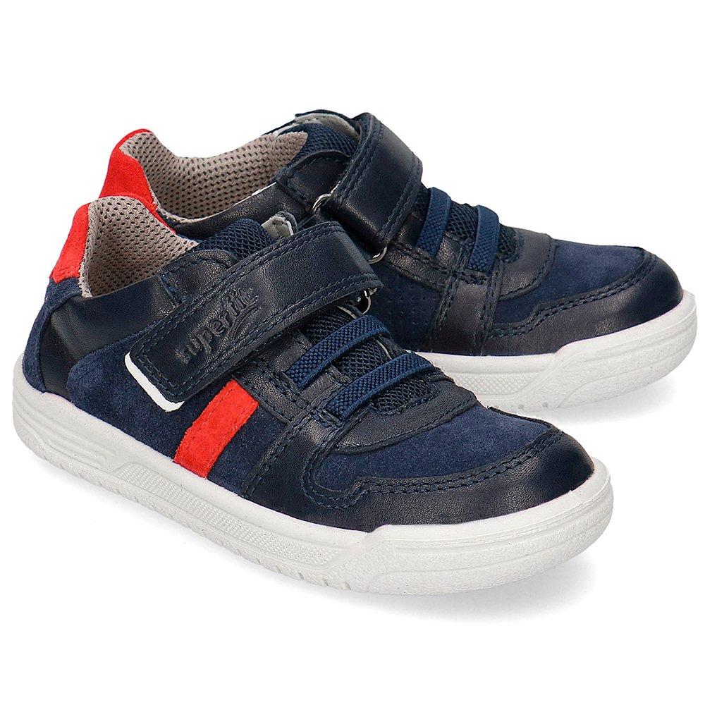 Superfit Granatowe Sneakersy Dziecięce Skóra R.34