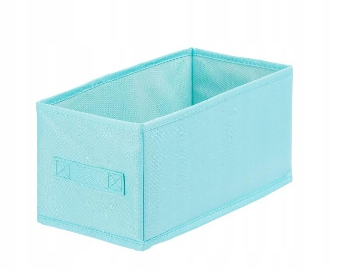 Pudełko tekstylne ANABEL 15x31x15cm BLUE 7l szafa