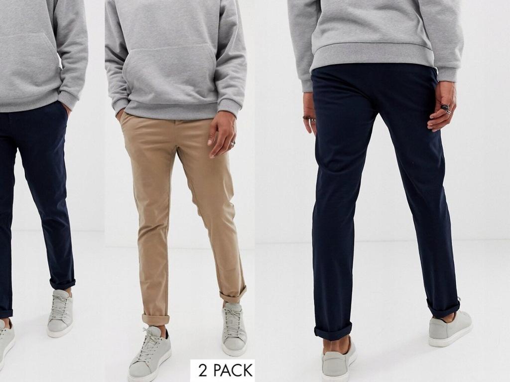 DESIGN - Spodnie męskie slim chinos W33/L34