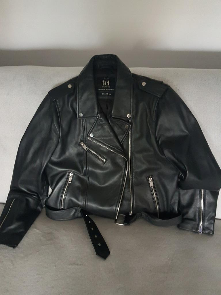 kurtka biker z imitacji skory zara