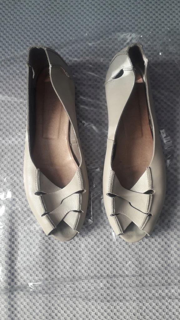 Sandały skóra szare jasne 40,5 Ryłko damskie