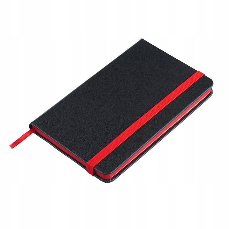 Notes 130x210/80k gładki Badajoz, czarny/czerwony