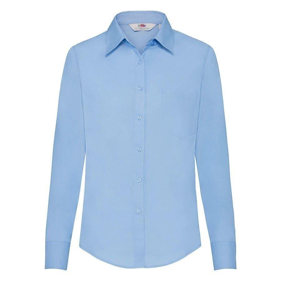 DAMSKA koszula POPLIN LONG FRUIT błękitny XS