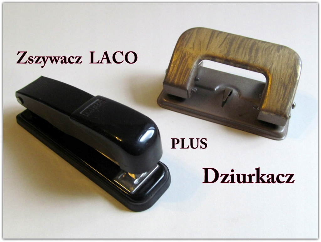 Zszywacz LACO niemiecki plus DZIURKACZ używane