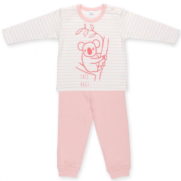 Pinokio Piżama HAPPY KIDS różowa rozmiar 122
