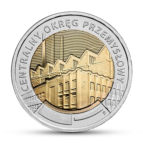 Moneta 5 zł  CENTRALNY OKRĘG PRZEMYSŁOWY 2017